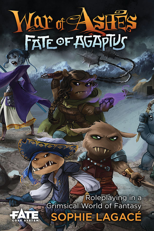 Fate Core Rpg: War Of Ashes - Fate Of Agaptus Core Rules Hardcover Box Front