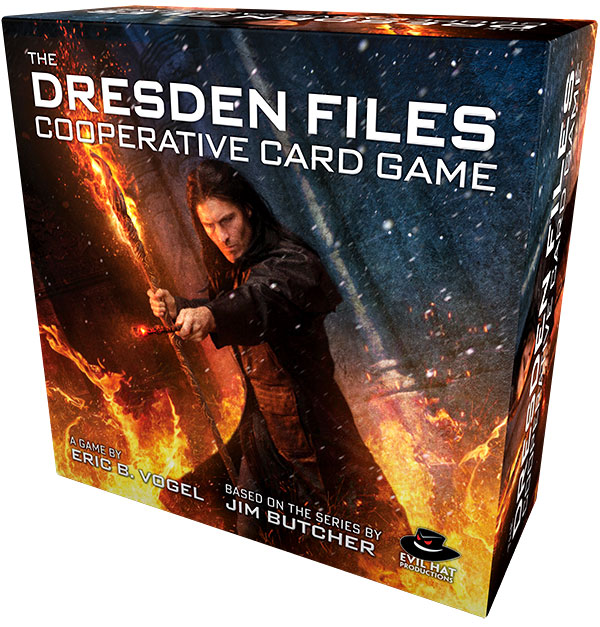 The Dresden Files Cooperative Card Game Box Front