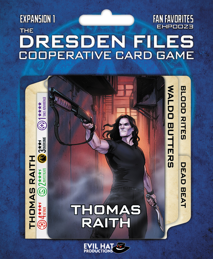 The Dresden Files Cooperative Card Game: Expansion 1 - Fan Favorites Box Front