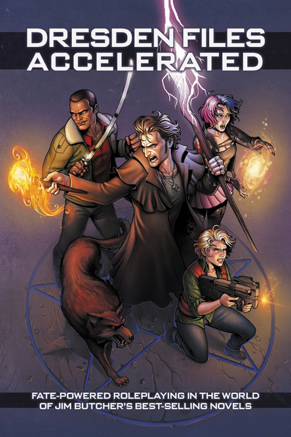 Fate Core Rpg: The Dresden Files Accelerated Hardcover Box Front