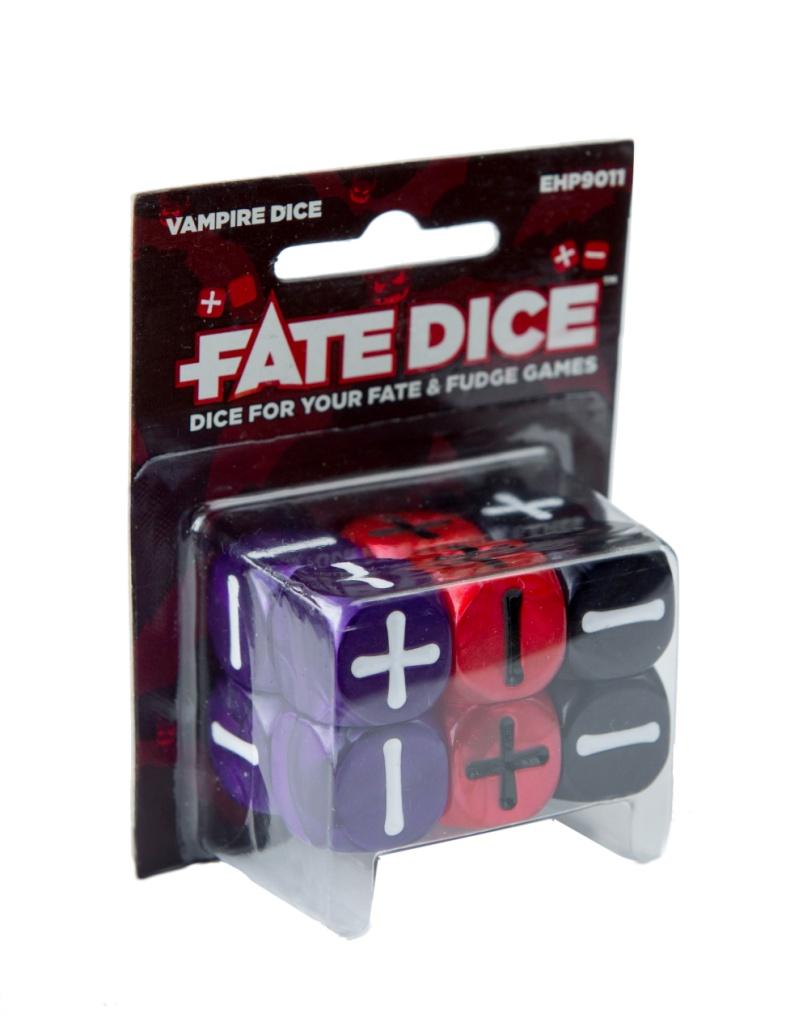 Fate Core Rpg: Fate Dice - Vampire (12) Box Front