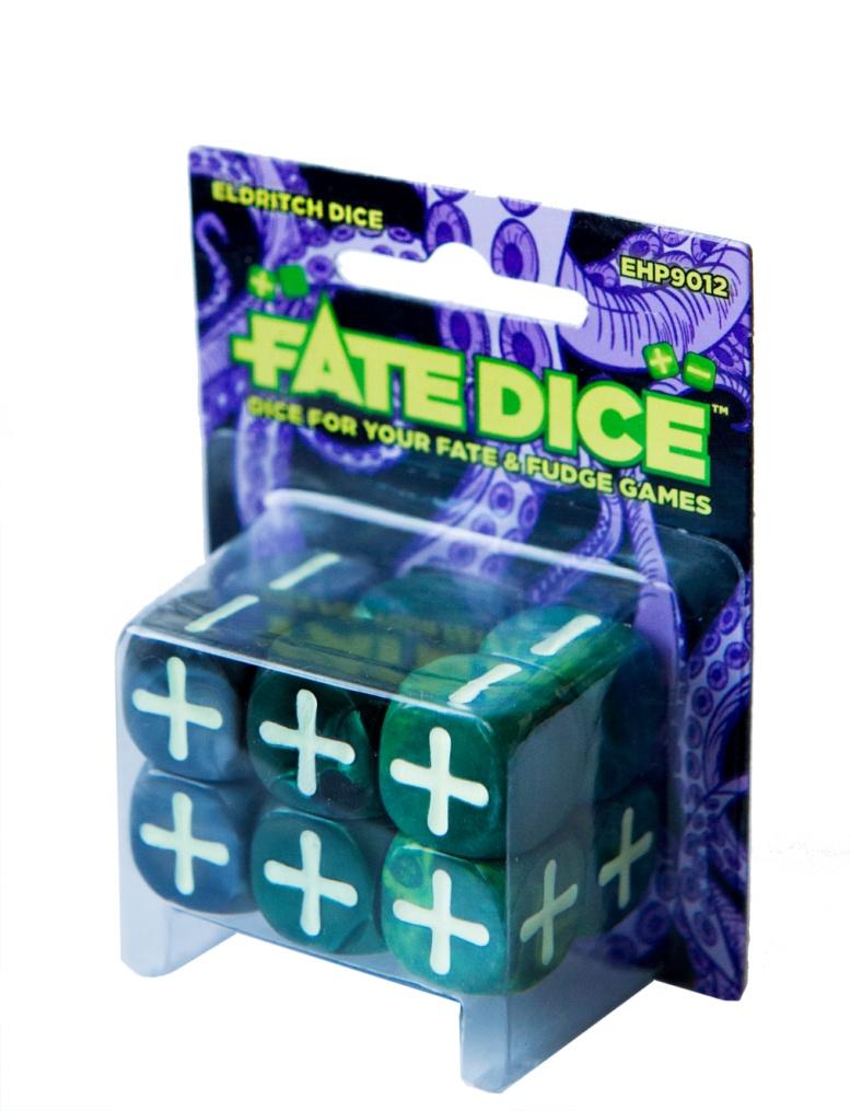 Fate Core Rpg: Fate Dice - Eldritch (12) Box Front