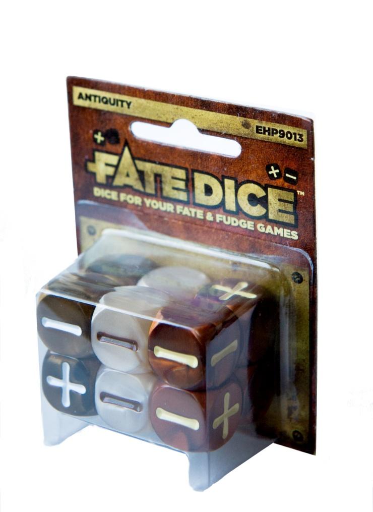 Fate Core Rpg: Fate Dice - Antiquity (12) Box Front