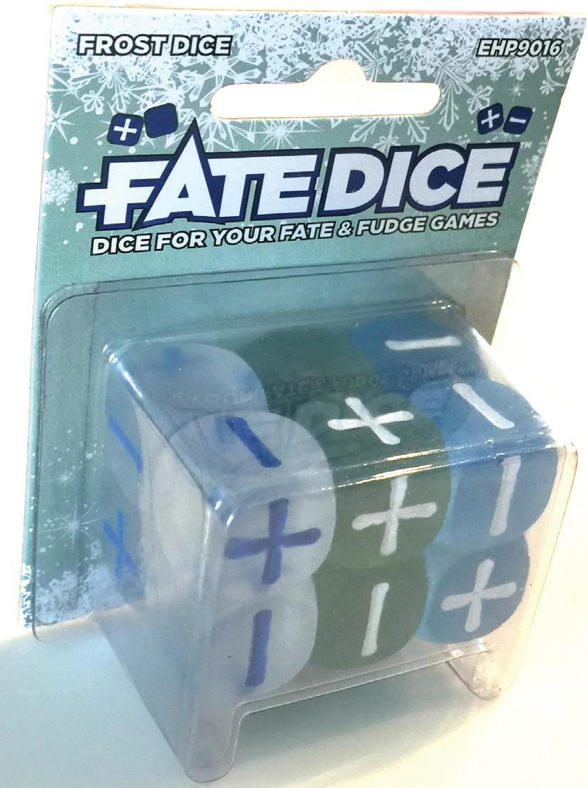 Fate Core Rpg: Fate Dice - Frost (12) Box Front