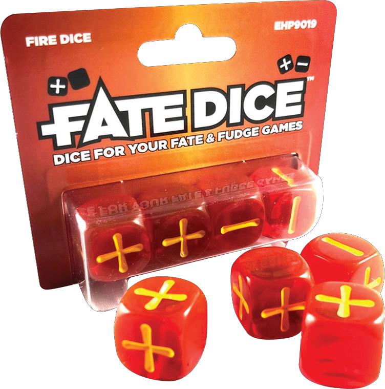 Fate Core Rpg: Fate Dice - Fire (4) Box Front