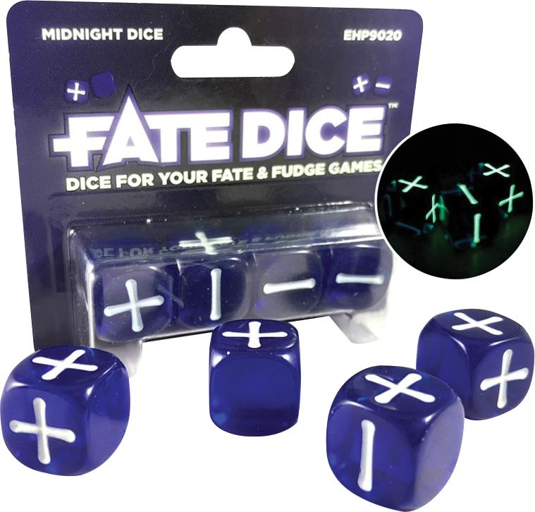Fate Core Rpg: Fate Dice - Midnight (4) Box Front