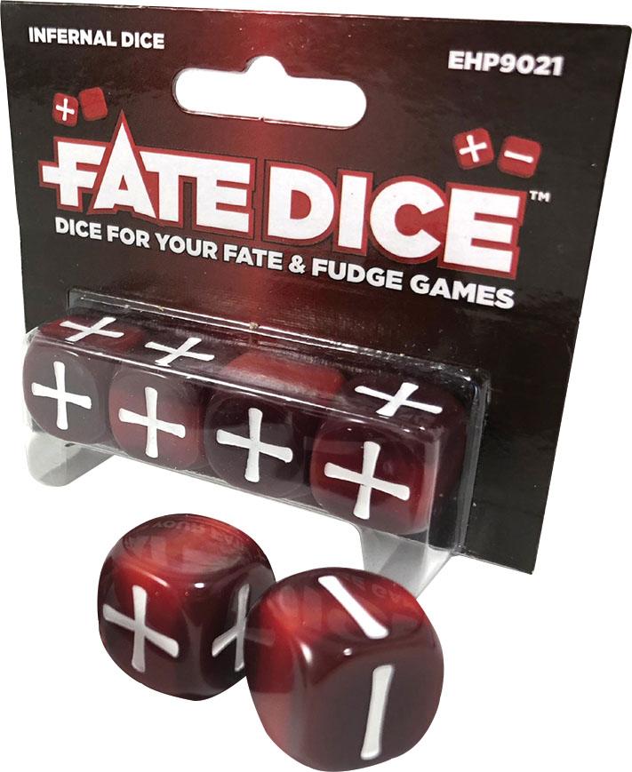 Fate Core Rpg: Fate Dice - Infernal (4) Game Box