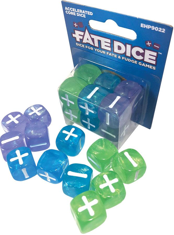 Fate Core Rpg: Fate Dice - Accelerated Core (12) Game Box