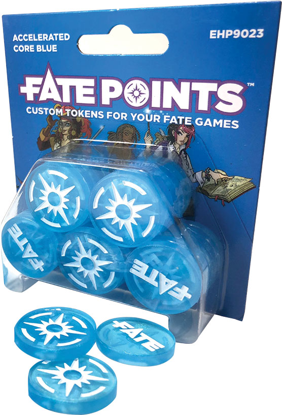 Fate Core Rpg: Fate Points - Accelerated Core Blue (30) Game Box