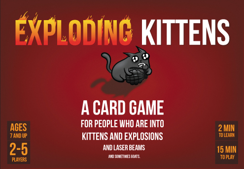 Exploding Kittens First Edition (limited) Box Front