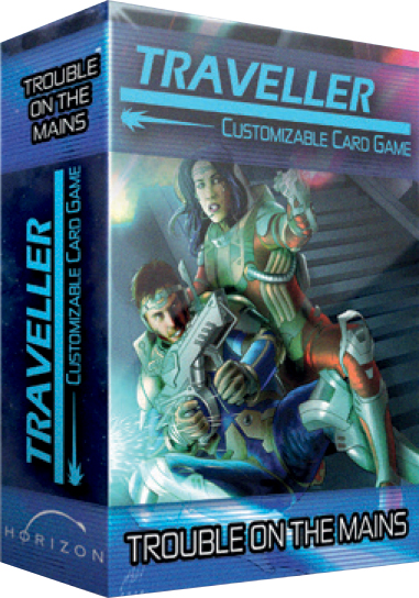 Traveller Ccg: Trouble On The Mains Expansion Pack Box Front