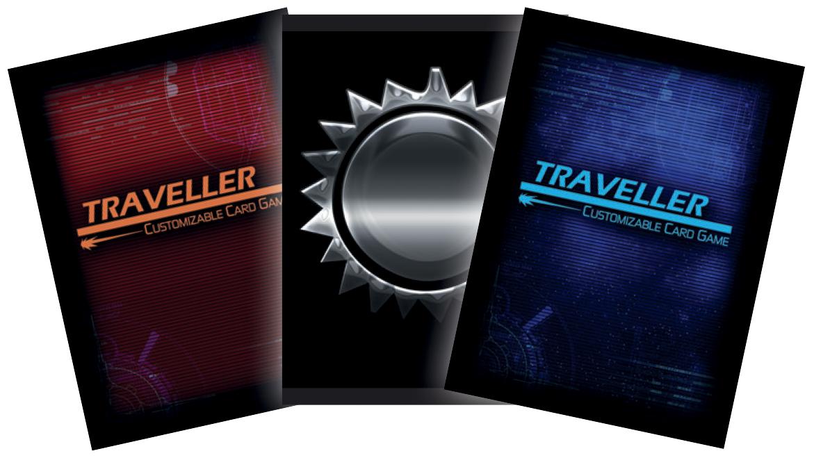 Traveller Ccg: Card Sleeves B (50) Silver Sun Box Front