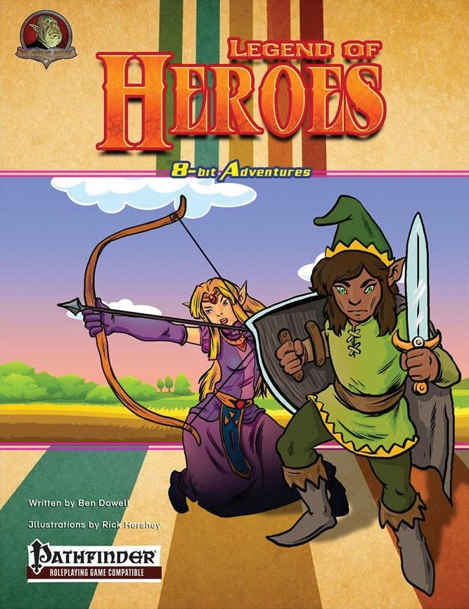 Pathfinder Rpg: 8-bit Adventures - The Legend Of Heroes Box Front