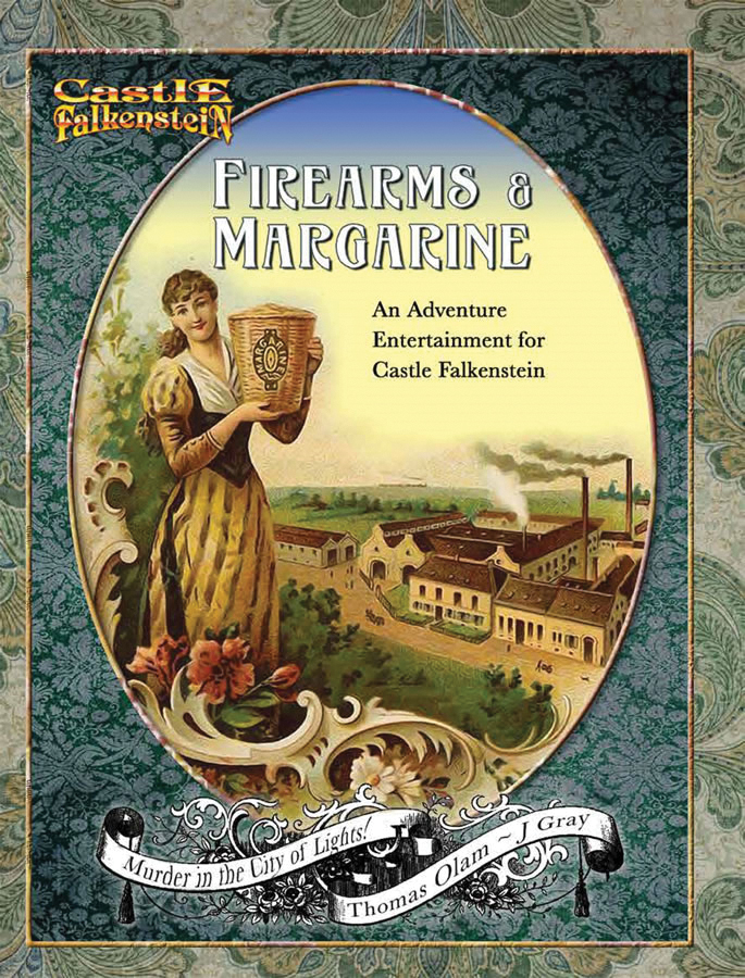 Castle Falkenstein: Firearms & Margarine Box Front