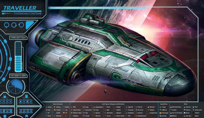 Traveller Ccg: Play Mat E Game Box