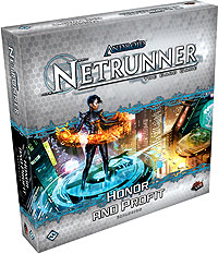Android Netrunner Lcg: Honor And Profit Expansion Box Front