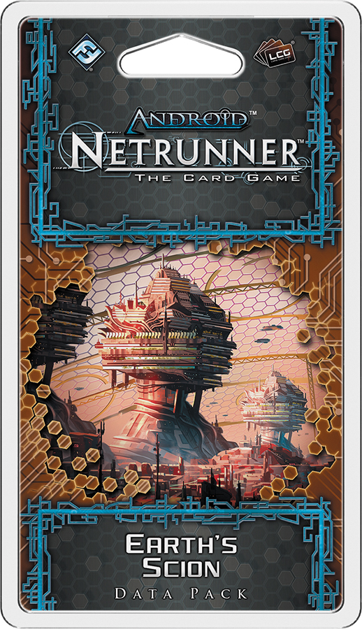 Android Netrunner Lcg: Earth`s Scion Data Pack Box Front