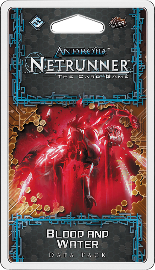 Android Netrunner Lcg: Blood And Water Data Pack Box Front