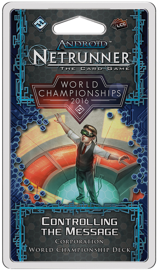 Android Netrunner Lcg: 2016 World Championship Corp Deck Box Front