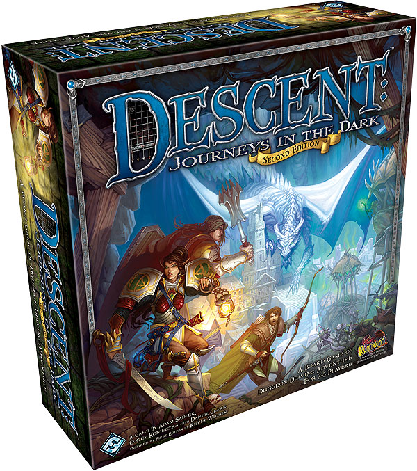Descent Journeys In The Dark 2nd Edition Box Front