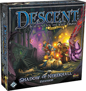 Descent Journeys In The Dark 2nd Edition: Shadow Of Nerekhall Expansion Box Front
