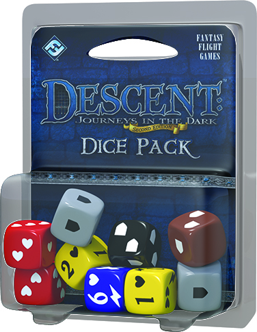 Descent Journeys In The Dark 2nd Edition: Dice Pack Box Front