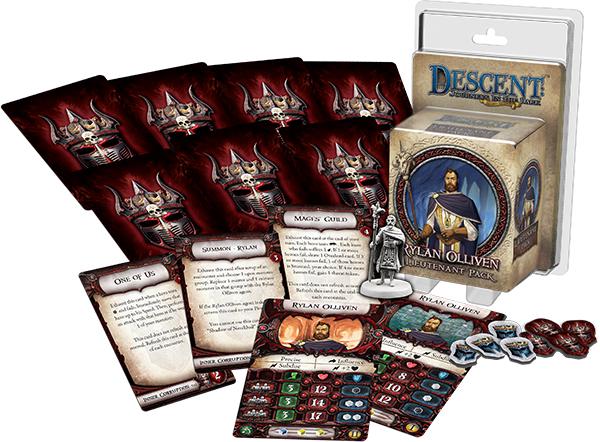 Descent Journeys In The Dark 2nd Edition: Rylan Olliven Lieutenant Pack Box Front