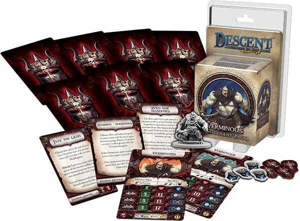 Descent Journeys In The Dark 2nd Edition: Verminous Lieutenant Pack Box Front