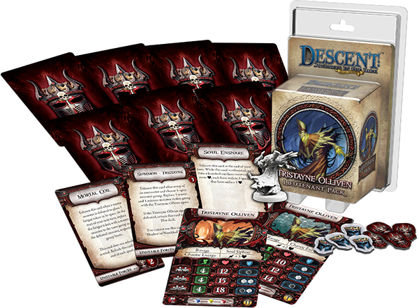 Descent Journeys In The Dark 2nd Edition: Tristayne Olliven Lieutenant Pack Box Front
