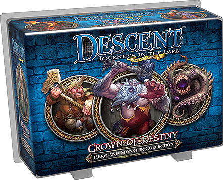 Descent Journeys In The Dark 2nd Edition: Crown Of Destiny Hero And Monster Collection Box Front