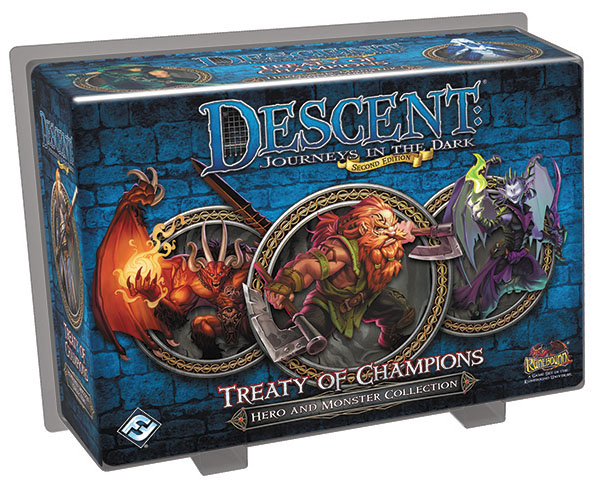 Descent Journeys In The Dark 2nd Edition: Treaty Of Champions Hero And Monster Collection Box Front