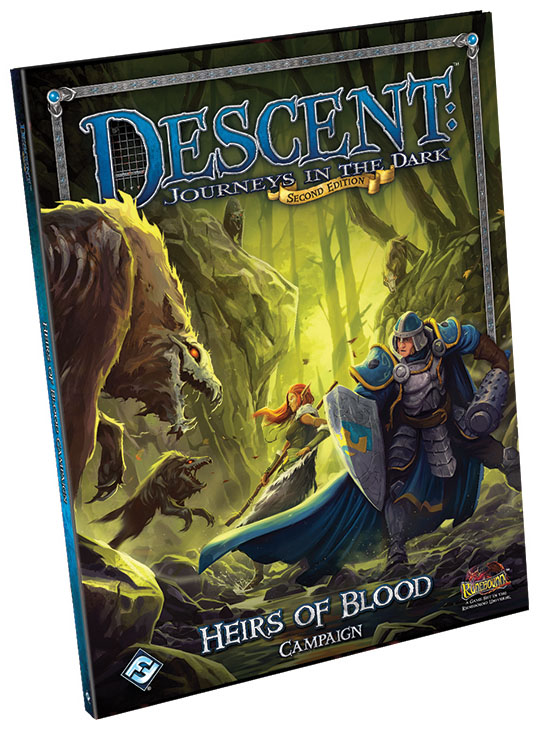 Descent Journeys In The Dark 2nd Edition: Heirs Of Blood Campaign Book Box Front