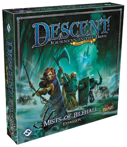 Descent Journeys In The Dark 2nd Edition: Mists Of Bilehall Expansion Box Front