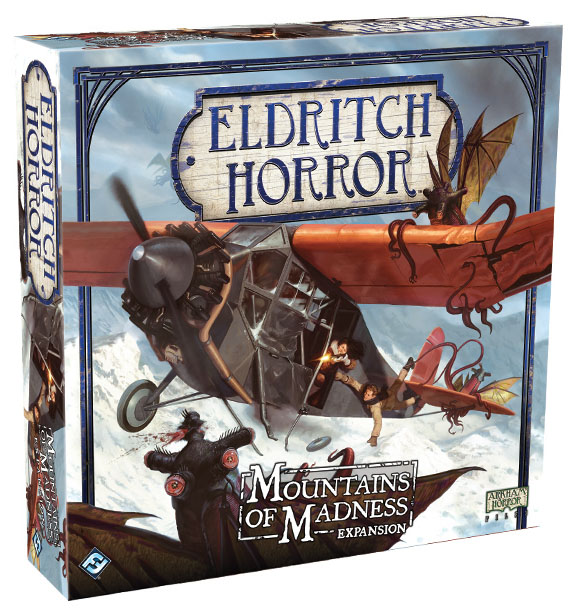 Eldritch Horror: Mountains Of Madness Expansion Box Front