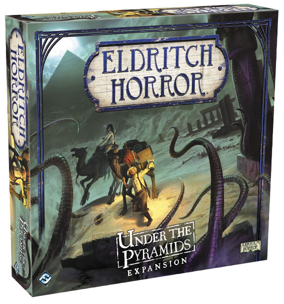Eldritch Horror: Under The Pyramids Expansion Box Front