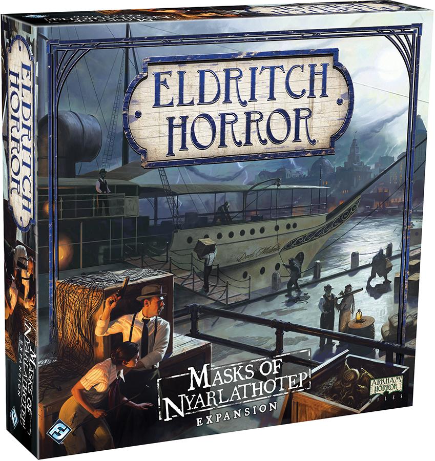 Eldritch Horror: Masks Of Nyarlathotep Expansion Box Front