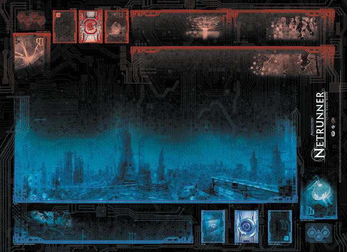 Android Netrunner Lcg: System Breach Two-player Playmat Box Front
