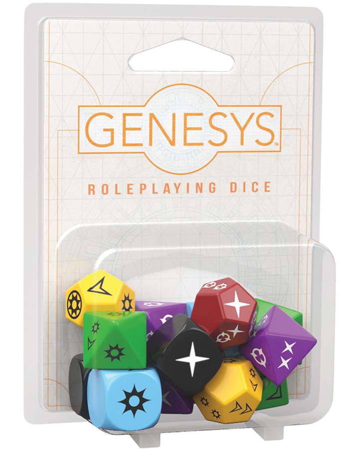 Genesys Rpg: Dice Pack Box Front