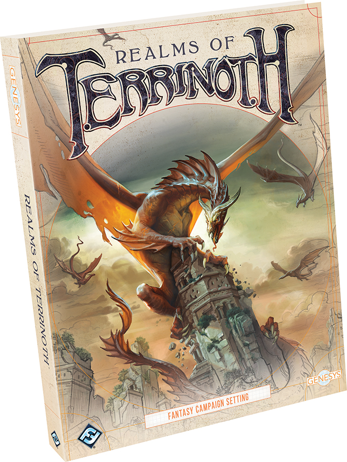 Genesys Rpg: Realms Of Terrinoth Hardcover Box Front