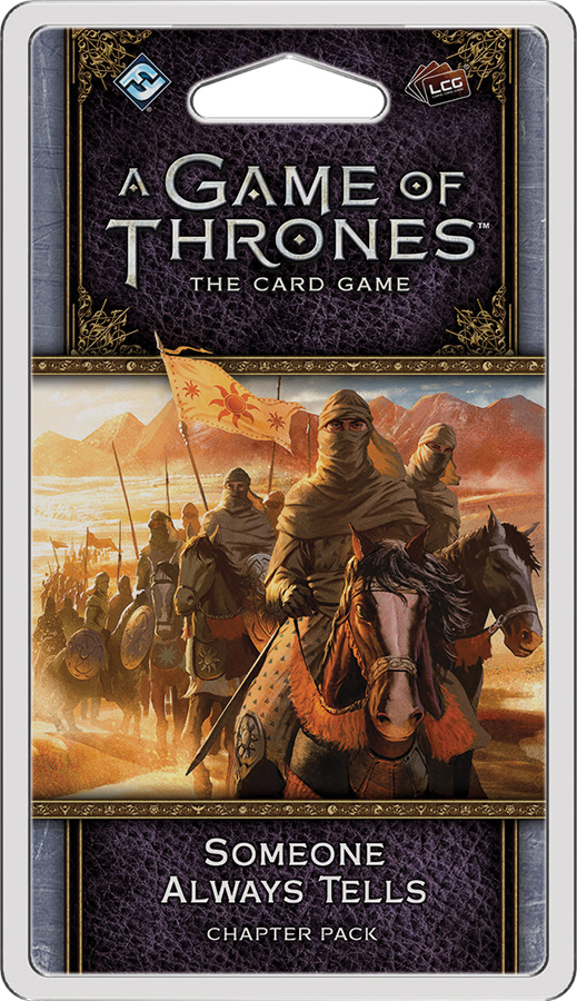 A Game Of Thrones Lcg: 2nd Edition - Someone Always Tells Chapter Pack Box Front