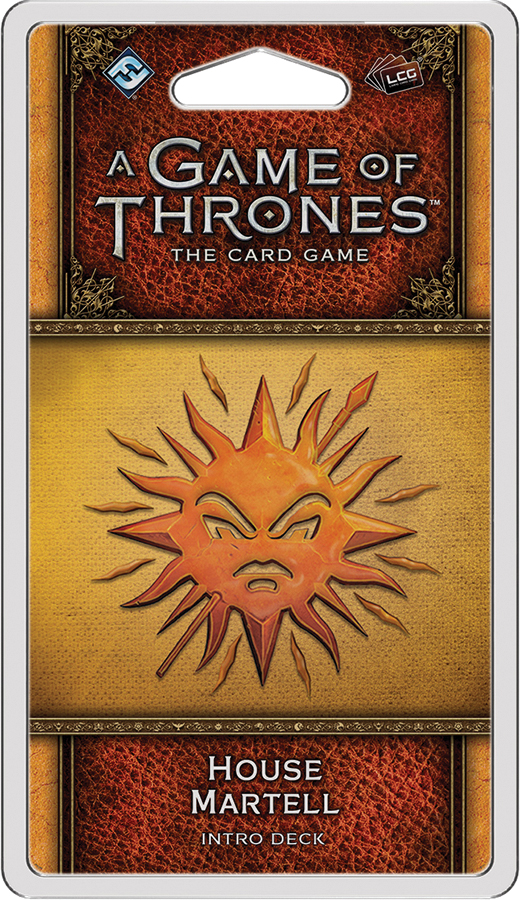 A Game Of Thrones Lcg: 2nd Edition - House Martell Intro Deck Box Front