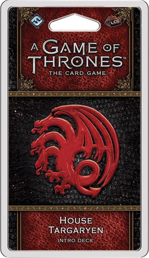 A Game Of Thrones Lcg: 2nd Edition - House Targaryen Intro Deck Box Front