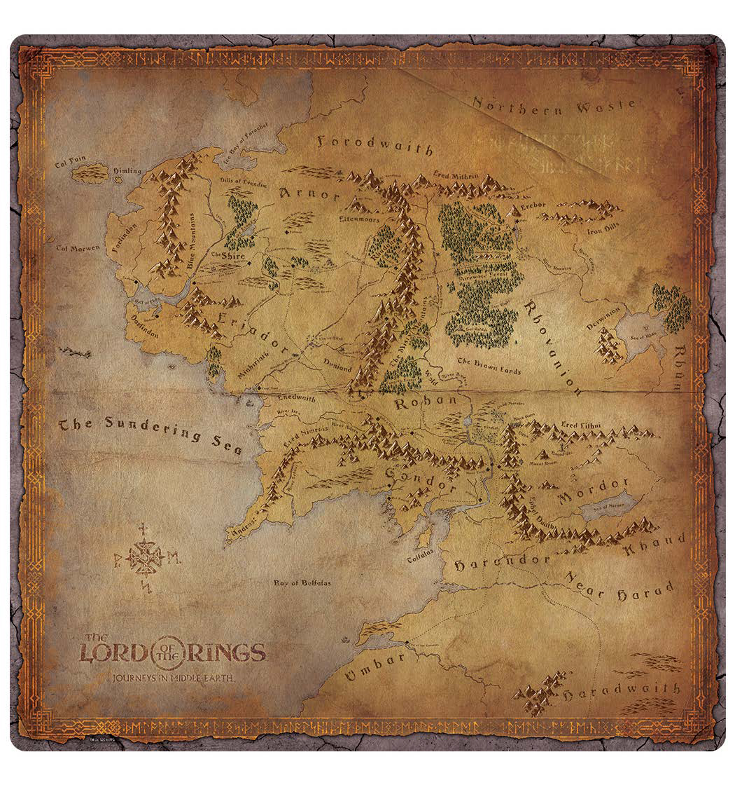 The Lord Of The Rings: Journeys In Middle-earth - Playmat Game Box