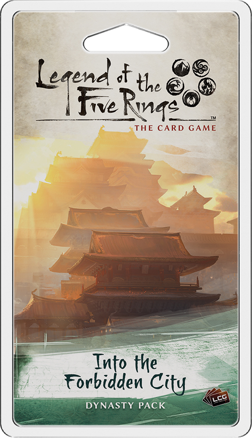 Legend Of The Five Rings Lcg: Into The Forbidden City Dynasty Pack Box Front