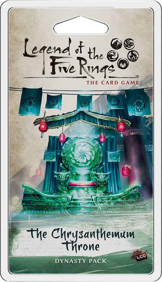Legend Of The Five Rings Lcg: The Chrysanthemum Throne Dynasty Pack Box Front