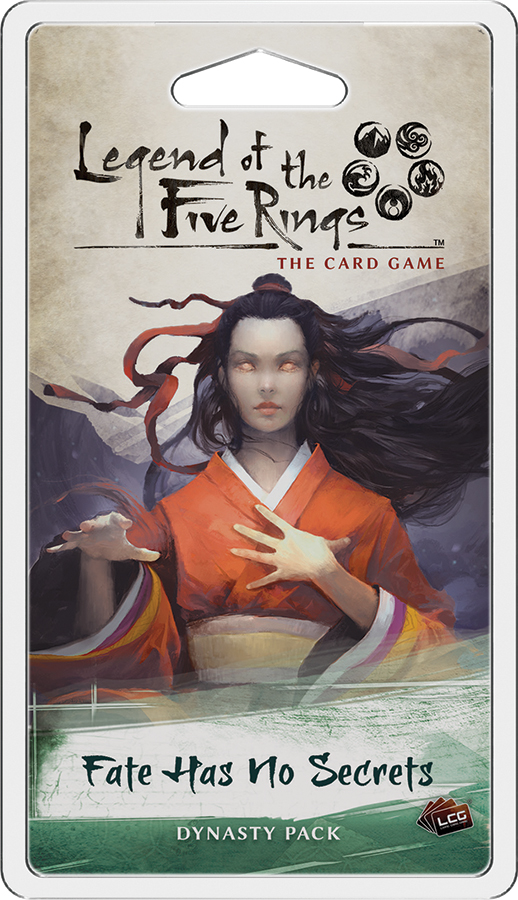 Legend Of The Five Rings Lcg: Fate Has No Secrets Dynasty Pack Box Front