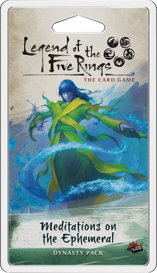 Legend Of The Five Rings Lcg: Meditations On The Ephemeral Dynasty Pack Box Front