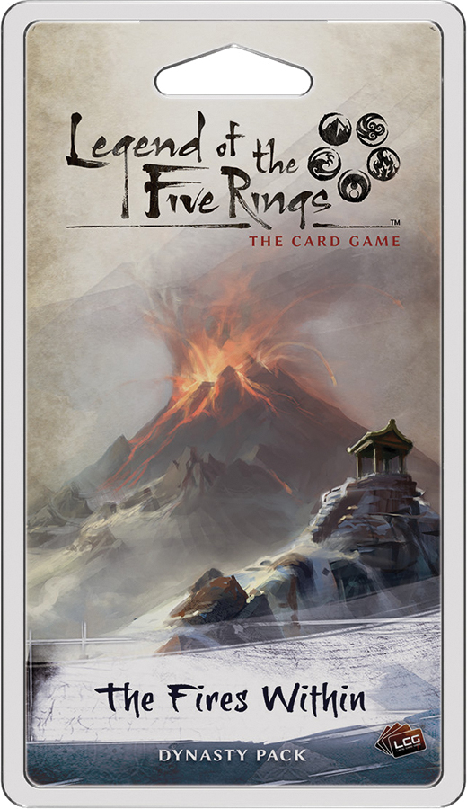 Legend Of The Five Rings Lcg: The Fires Within Dynasty Pack Box Front