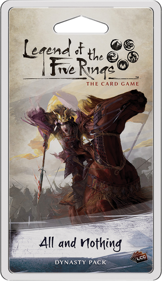 Legend Of The Five Rings Lcg: All And Nothing Dynasty Pack Box Front