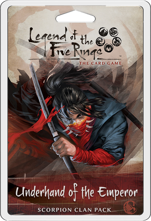 Legend Of The Five Rings Lcg: Underhand Of The Emperor - Scorpion Clan Pack Box Front